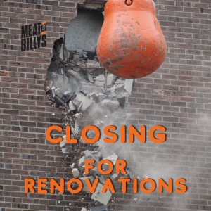 Closing for renovations