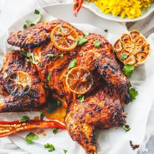 Spanish Spiced Butterflied Chicken