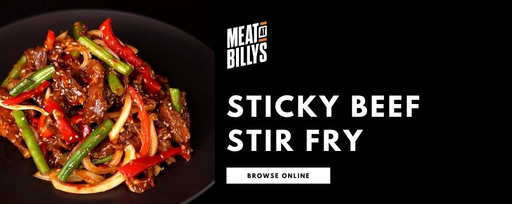 STICKY BEEF STIR FRY SALAD