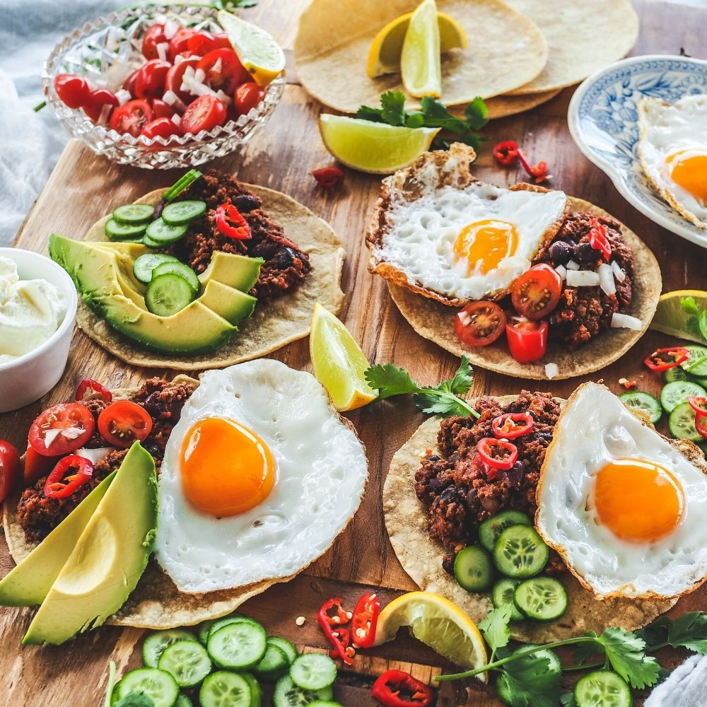 Breakfast Tacos with Mexican Chilli Beef