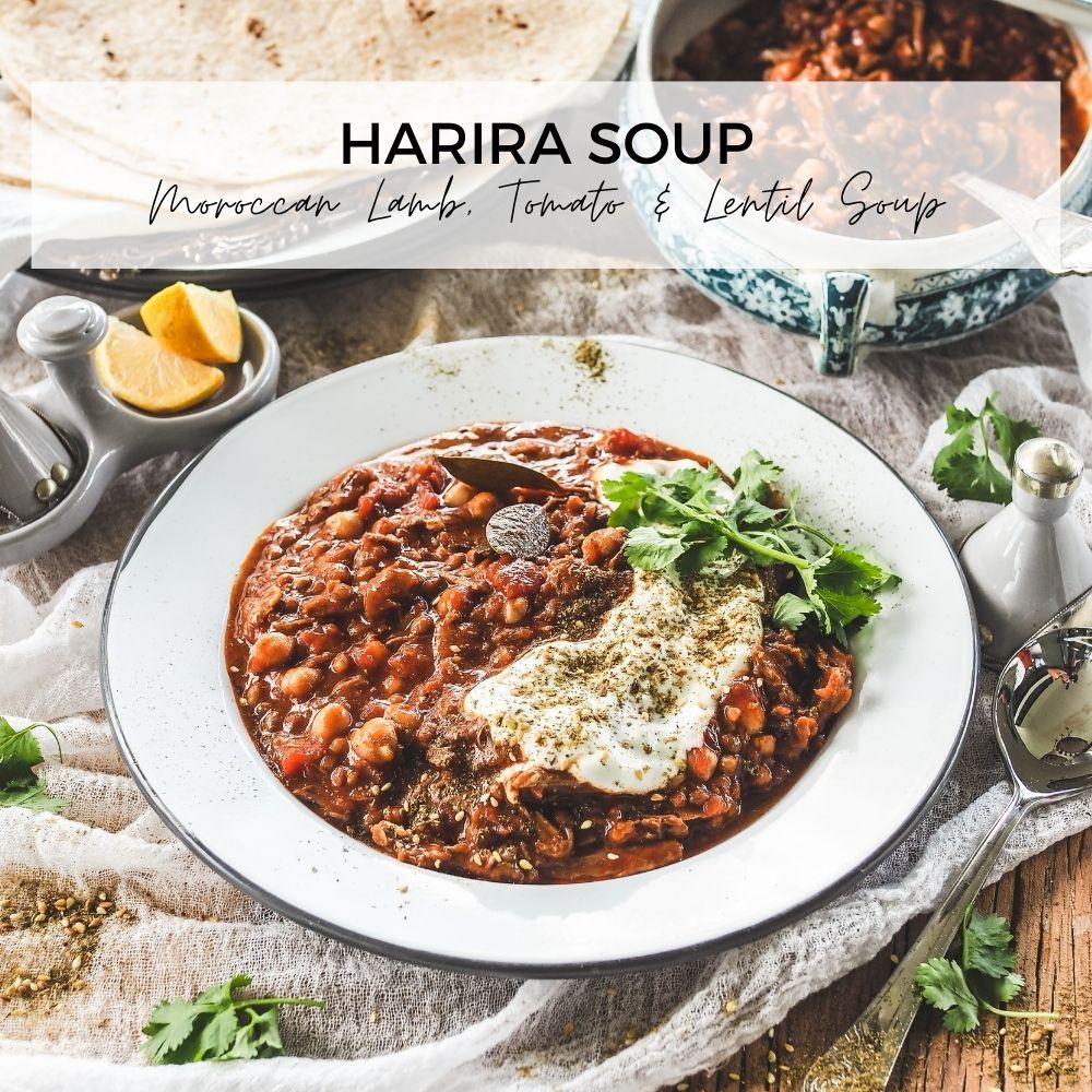 Harira Soup Moroccan Lamb, Tomato & Lentil Soup