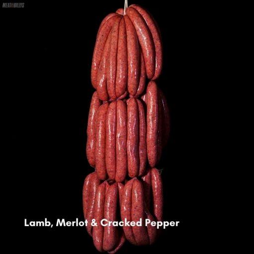 Lamb, Merlot & Cracked epper Sausages 600x600