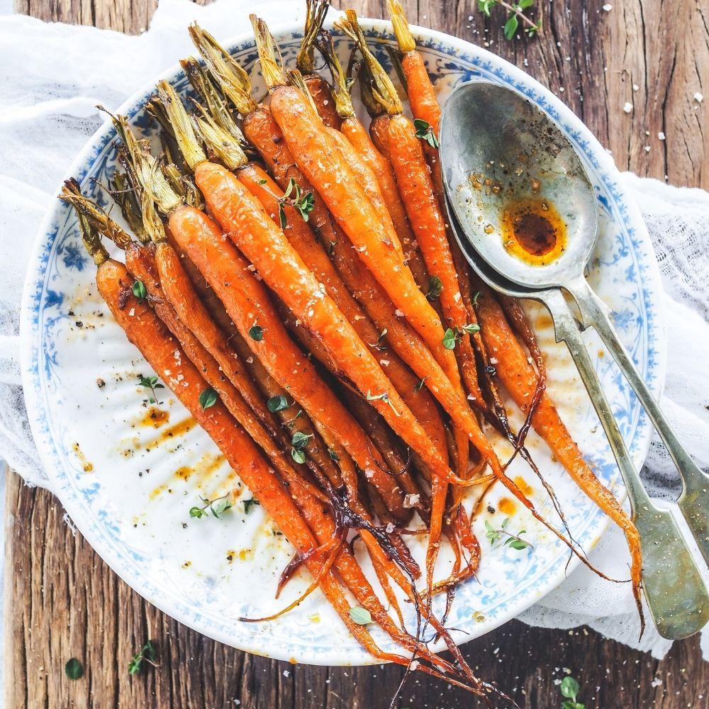 Butterflied Basil Pesto Chicken with Sweet & Smokey Carrots