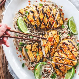 Mango Chilli Chicken with Soba Noodles
