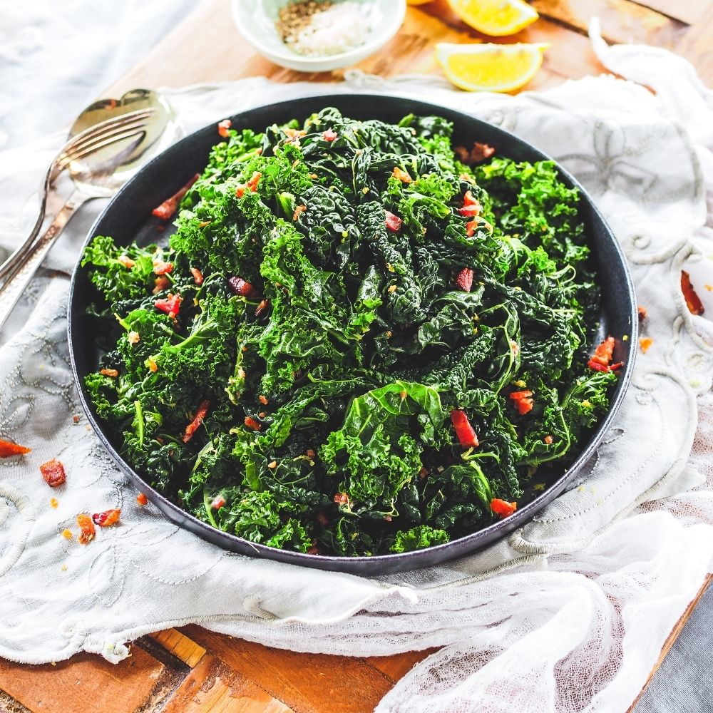 Bacon Buttered Greens