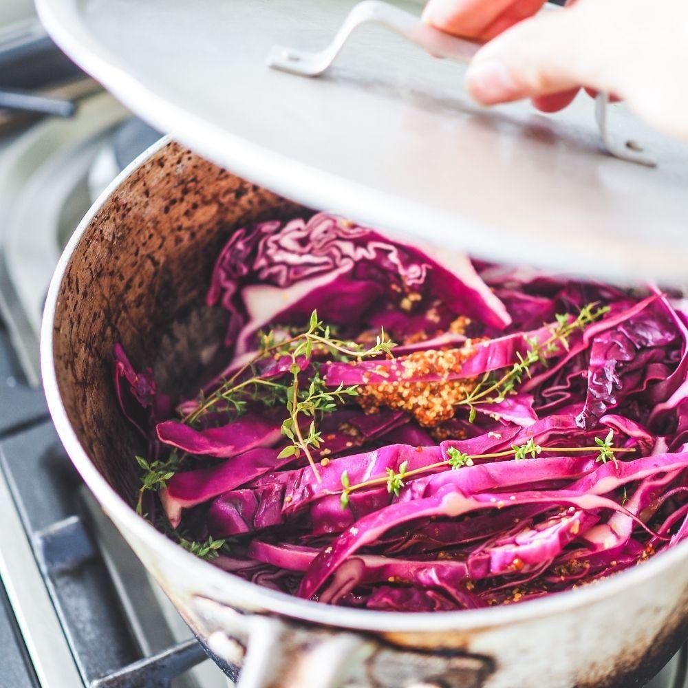 Mustard Braised Red Cabbage
