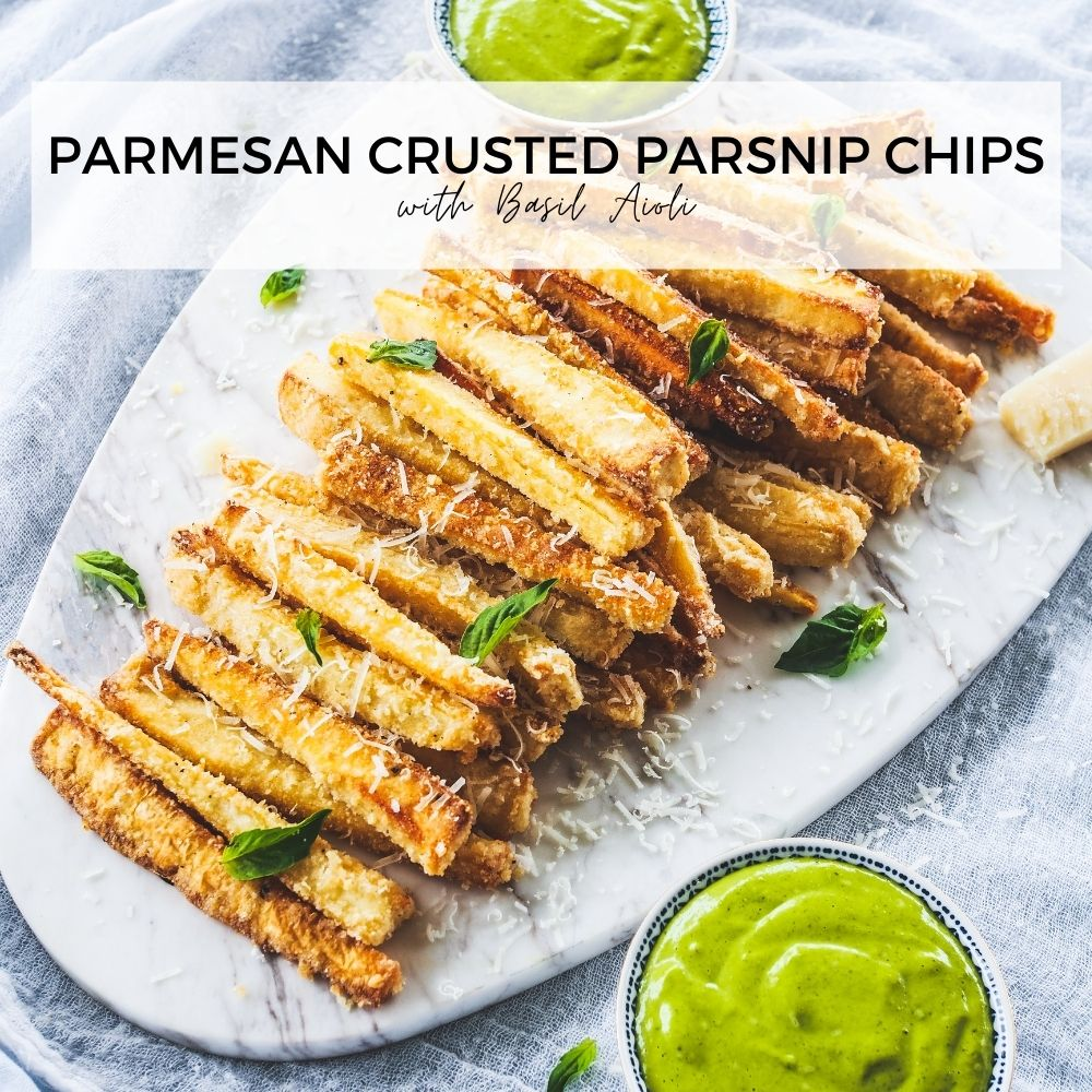 Parmesan Crusted Parsnip Chips